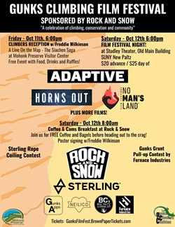 Gunks Climbing Film Festival Poster - Uploaded by cliffmama