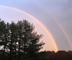 Double Rainbow, election day 2018 - Uploaded by hrptie
