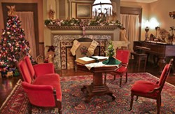 The beautifully decorated parlor of the Mesier Homestead. - Uploaded by Mesier Homestead