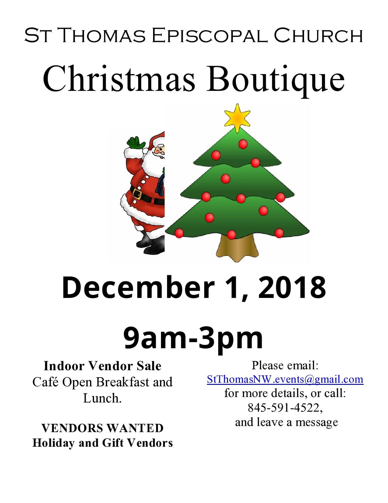Christmas Boutique | St. Thomas Episcopal Church | Fairs & Festivals ...