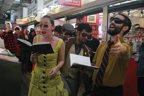"Varispeed performs Robert Ashley's opera ""Perfect Lives"" on August 17, part of the Mount Tremper Arts summer festival. - ELIZABETH PROITIS"