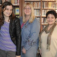 Rhinebeck, Red Hook, Tivoli Veronica Stork, Bonny Corrado, and Christine Houlihan at the Tivoli Free Library. David Morris Cunningham