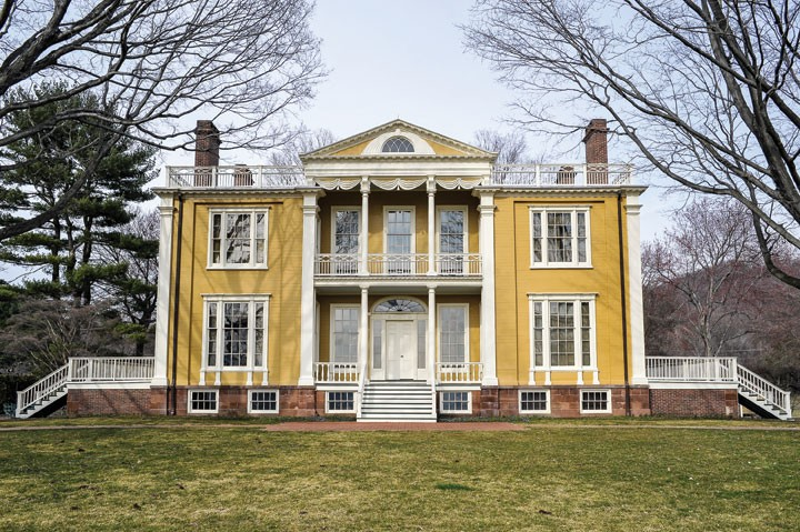 View of boscobel restoration from the south. built in 19th century by States Dyckman, boscobel is considered an outstanding example of the Federal style, augmented by Dyckman's extensive collection of period furnishings. The mansion is open for tours and events are held on the property throughout the year, including the hudson valley shakespeare festival - DAVID MORRIS CUNNINGHAM