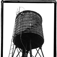 "Hudson Beach Glass Gallery's ""New York Water Towers"""
