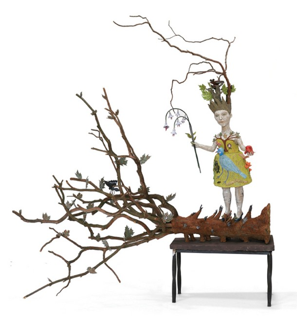 "Wild Thing, Kathy Ruttenberg, ceramic mixed media, 92""x 90"" x 96"", 2009"