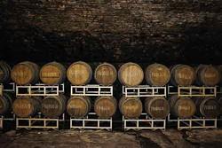 Wine casks at Brotherhood Winery.
