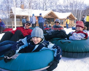Winter tubing at Windham Mountain.