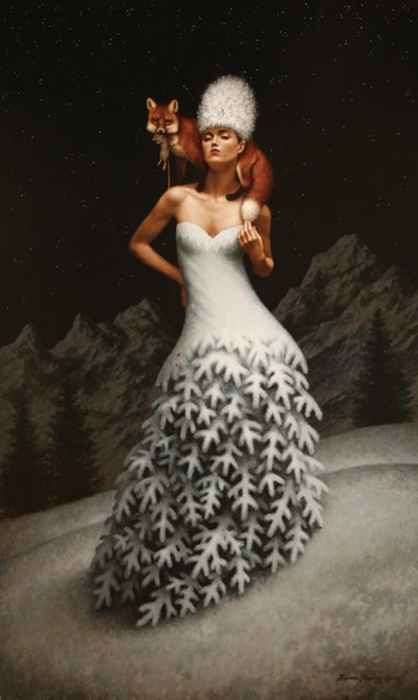 """""""Winterlude,"""" Steven Kenny, oil on linen, 50"""" x 30"""", 2009"""