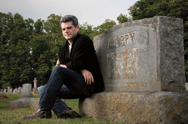 Writer Shalom Auslander in the Woodstock Artists Cemetery. - JENNIFER MAY
