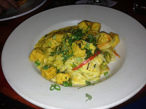 Yellow Curry Tofu Rice Noodles