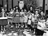 1958: Parmadale children with Santa.