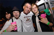 216 singer Jason Popson (center) parties at the Scene Music Festival. - WALTER NOVAK