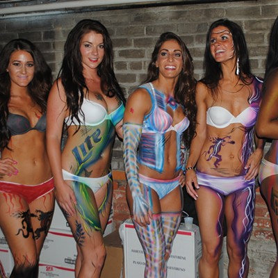 23 Sizzlin' Photos from the 2013 Body Paint Fashion Show at Lakewood's Around-the-Corner