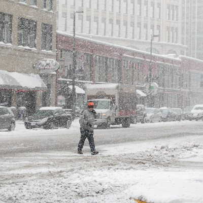 33 Photos of a Late Fall Snow Storm in Downtown Cleveland