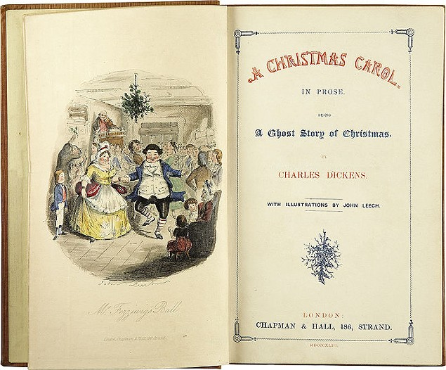 A Christmas Carol, First Edition, Title Page - PHOTO COURTESY OF WIKIMEDIA COMMONS