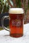 A growler of Dortmunder Gold Lager
