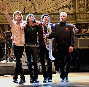 A long way from Altamont: The Rolling Stones as presidential accessories.