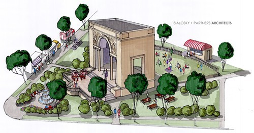 A proposal for turning the property at West 117th Street and Clifton Boulevard into park space has been presented.