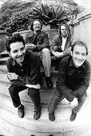 A shot in the arm: Jeff Tweedy, Ken Coomer, Jay Bennett, and John Stirratt (from left) of Wilco.