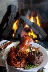 A very fresh Maine lobster meets a well-aged filet mignon. - WALTER  NOVAK