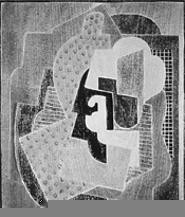 """Abstraction A,"" by Blanche Lazzell, woodblock print."
