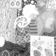 """Aethyr""; by Tara Giannini; oil, acrylic, wax, and glitter on canvas."