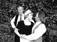Andrew Narten, Meg Santisi, and Allen Branstein drivel - divinely in The Bald Soprano.