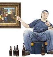 As any smoker knows, true art is a few pints of Labatt and Troy Smith on the plasma.