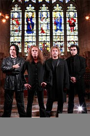 As Heaven and Hell, Ronnie James Dio (front) and Tony Iommi (right) are haunting the chapel.