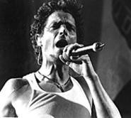 Audioslave's Chris Cornell, belting one out at - Lollapalooza last Sunday. - WALTER  NOVAK
