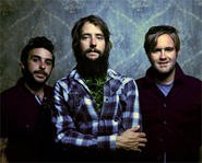 Band of Horses frontman Ben Bridwell, with what appears to be weed crammed in his flannel.