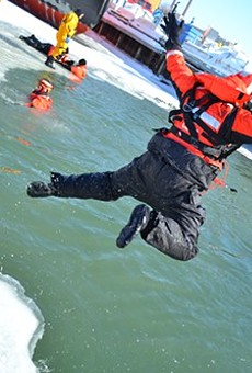 Baptism By Ice: A Coast Guard Winter Rescue Simulation (With Video, Photos)