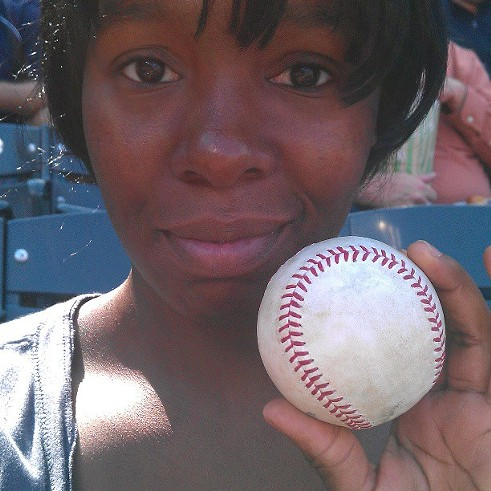 Besides Tribe Fever, I also caught this. #freeball #flyball #Indians #Mets #Cleveland #NewYork #ProgressiveField #Sunday #September #8th #2013 - PHOTO COURTESY OF INSTAGRAM USER THEAMAZINGWORLDOFMARLEY