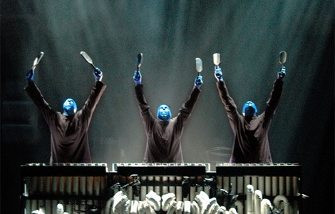 Blue Man Group runs through Sunday at the Palace Theatre.