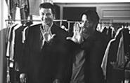 Broderick (right) frames the shot; Baldwin frames - Broderick.