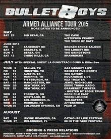 BULLETBOYS BAND - BulletBoys tour