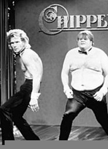 GETTY  IMAGES - Chris Farley is the ultimate model for the Cavs' - Beefcake on the Lake.
