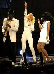 Christina Aguilera at the Wolstein Center. - PHOTOS BY WALTER NOVAK