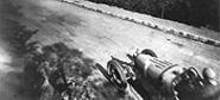 """Circuit du Cap d'Antibes, Bugatti Type 37"", by Jacques-Henri Lartigue, gelatin silver print."