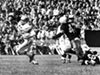"Cleveland Browns vs. Pittsburgh Steelers- 1958  <p>Final Score- Cleveland 45: Steelers 12  <p>""Jim Brown comes back with a 129-yard, three-touchdown effort in a 45-12 rout of the Steelers at Pittsburgh. The game matches Brown with rookie Bobby Mitchell in a potentially lethal backfield. Mitchell rushes for 65 yards and takes a Milt Plum screen pass 21 yards for a TD. The Steelers commit nine turnovers in the first pro game at Pitt Stadium."""