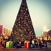 Cleveland Christmas with @hannahcuteface and @mollygraydon09 #wesotiny #christmas #shopping #lights #cleveland #ohio #massivetree #presents