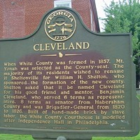 Cleveland, Georgia Cleveland, Georgia: Population 3,410. Area code 706. Cleveland is the home of Babyland General Hospital, where visitors can watch the delivery of Cabbage Patch Kids. Photo Courtesy of clevelandillinois.com