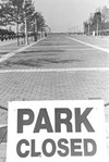 """Cleveland's sometimes inaccessible """"public"""" waterfront at the end of East Ninth Street."""