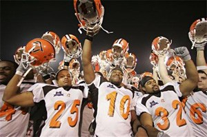 """""""Come watch us, or we'll have to sell these helmets on eBay!"""" - ASSOCIATED PRESS"""