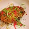 Crispy #Ramen cake w/ Kim Chee, scallop, kizami ginger & seaweed@noodle_cat @chefleber #cle #clefood