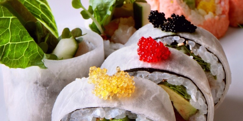 The 10 Best Sushi Restaurants In and Around Cleveland Dante Boccouzzi's breathtaking sushi boutique features an Eye of the Tiger roll, highlighted with scallops, shiitake,and burdock root. Photo Courtesy of Ginko, Website