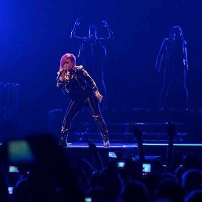 Demi Lovato, Cher Lloyd and Fifth Harmony performing at the Q