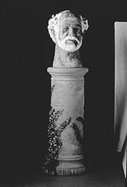 """Desolatus,"" by Robert Arneson, ceramic and paint."