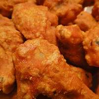 The 10 Best Chicken Wings in Cleveland Dina's Pizza & Pub's award winning wings are a staple in Old Brooklyn. They offer over 25 varities of sauces, but you can't go wrong with the hot Carribean-  Just enough island spice. Dina's Pizza & Pub is located at 5701 Memphis Ave. Call 216-351-3663 for more information. Photo Courtesy of Tilted Kilt, Facebook