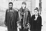 Dogma's Chris Rock, Jason Mewes, and Salma Hayek.